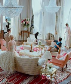 the buchanans' living room, the great gatsby (2013)