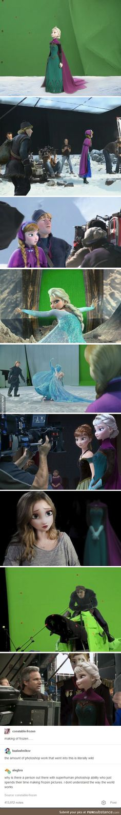 Disney funny - Behind the scenes of Frozen Disney Pixar, Animation Disney, Film Disney, Disney Facts, Disney Marvel, Disney And Dreamworks, Disney Magic, Disney Frozen, Disney Movies