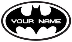 Personalised Custom Batman logo - Vinyl Decal Wall Art - Basic Vinyl® (44 inch wide, Gloss Black) -- Special  product just for you. See it now! (This is an amazon affiliate link. I may earn commission from it)