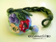 @sarahweisdenton this felted bracelet has you all over it