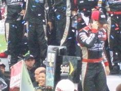 Jeff getting out of his car when he won the advocare 500 at the best labor day party in the USA.  ATLANTA baby