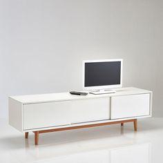 Wit houten vintage Tv-meubel L ... - Artic   Interieur   Pinterest ...