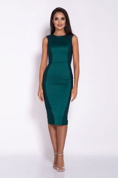 Green Bodycon Fitted Dress by Dursi Elegant Dresses, Sexy Dresses, Dresses For Work, Fashion Addict, Outfit Of The Day, Street Wear, Bodycon Dress, Lingerie, Street Style