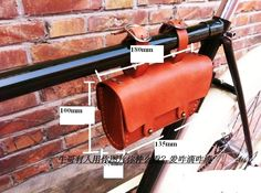 28.40$  Buy here - Vintage classic design cow leather cell phone tool hung bag for bicycle 100% manual sew bag  #buychinaproducts