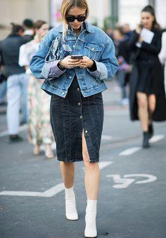 11 New Ways to Wear a Denim Jacket via @WhoWhatWearUK