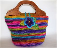 Create a colorful handbag that will look great with most any outfit!