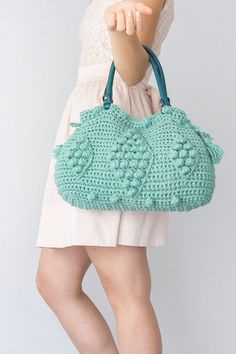 BAG // Mint Bag Winter Bag Shoulder Bag Crochet Bag by Sudrishta