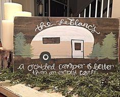 Vintage Camper Camper Sign Hand Painted by SalvagedChicMarket