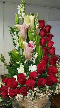 Orchid Flower Arrangements, Tropical Floral Arrangements, Church Flower Arrangements, Beautiful Flower Arrangements, Love Rose Flower, Beautiful Rose Flowers, Unique Flowers, Amazing Flowers, Rose Flower Wallpaper