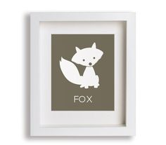 Fox Art Print - Modern Nursery Art for Baby, Nursery Decor, Woodland Animals, Children Decor, Kids Art, Playroom, Forest Animals, Sly Fox