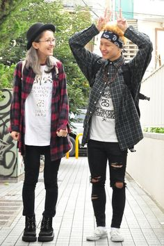 street fashion, grunge, japanese fashion