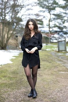 Lindex Dress, Vagabond Boots, Dkny Watch