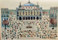 """""""This is Paris"""" - M. Sasek Great Books for Children: This Is.Great Books on Famous Places Pierre Bonnard, Pierre Auguste Renoir, Georges Seurat, Gravure Illustration, City Illustration, Edward Hopper, Claude Monet, Vincent Van Gogh, Munich"""
