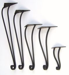 Hand Forged Wrought Iron Table Legs by maidensofironinc on Etsy