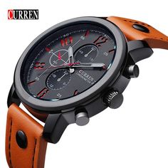 CURREN 8192 Hommes Montre Marque De Luxe Sport Quartz-Montre Mode Montres Militaire Bracelet En Cuir Hommes Montre-Bracelet Relogio Masculino