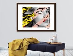 Discover «Roy Lichtenstein's Crying Girl & Grace Kelly», Exclusive Edition Fine Art Print by Luigi Tarini - From $24.9 - Curioos