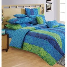 Blue Desire Fitted Bed Sheet, Shades of Paradise-1302