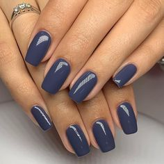 Blue Gel Nails, Navy Blue Nails, Fall Gel Nails, Fall Acrylic Nails, Metallic Nails, Pink Nails, Fall Nail Ideas Gel, Nail Colors For Fall, Gel Nail Color Ideas
