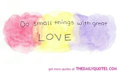 Do Small Things