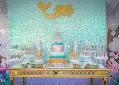 Loved everything about this mermaid party. Gorgeous chocolate dipped yummies by @opopsbyangie cake by yours truly 😁 backdrop and table by @bambinisoiree chandelier stands by @opulenttreasures photo credit @modern_image_by_candy Party styled by Ava's mommy