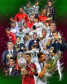 Cristiano Ronaldo (From Sporting de Lisboa Portugal to Real Madrid) + Portugal NT+ trophies Poster Learn more about soccer and get some easy training to improve your game! Cr7 Vs Messi, Cristiano Ronaldo Juventus, Cr7 Ronaldo, Lionel Messi, Cristiano Ronaldo Trophies, Cristiano 7, Ronaldo Football, Cr7 Wallpapers, Ronaldo Wallpapers