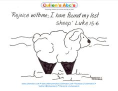 luke 15 three parables parable of the lost sheep coloring page