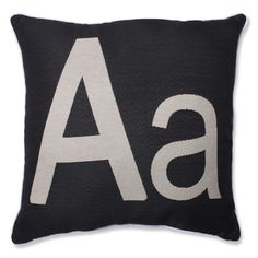 Pillow Perfect Initial Letter Throw Pillow - Overstock™ Shopping - Great Deals on Pillow Perfect Throw Pillows