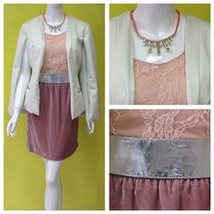 Velvet + lace #ladylike #cute #amolapeli Saco beige de @maquechmx + blusa de @vaccimx
