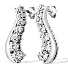 Diamant Ohrringe aus 585er Weißgold mit 1.00 Karat Diamanten - http://www.juwelierhausabt.de/products/de/Diamant-Ohrringe/Diamant-Ohrringe/Diamant-Ohrringe-aus-585er-Weissgold-mit-100-Karat-Diamanten4.html