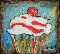"For Sale: sweetie by Drew Trombley | $100 | 6""w x 6""h | Original Art | http://www.vangoart.co/buy/art/sweetie @Vango"