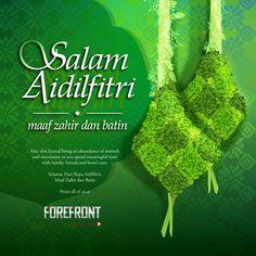 Hari Raya Greetings Card By Forefront Greetings Morning Greeting Cards