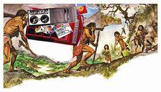 Prehistoric Pickers Latest collage for Michael's Kollage Kit blog. www.kollagekit.blogspot.co.uk