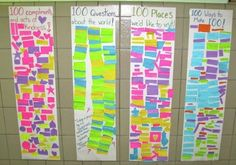 100 Day of School Idea