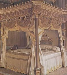Mahogany Four Poster Bed circa 1775-8, Designed by Robert Adam