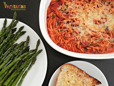 """I should title this """"the worlds easiest baked spaghetti recipe."""" Pretty self-explanatory! Its great for those nights where you need a quick dinner or really just don't feel like prepping for dinner! Check out this easy recipe! As you can see we paired it with some asparagus and cheesy garlic toast! [amd-zlrecipe-recipe:324] Recipe shared at:…"""