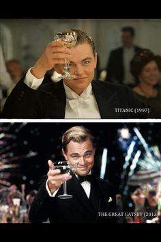 Leonardo DiCaprio|The Difference|1997|Titanic|2013|The Great Gatsby