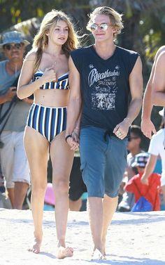 Gigi Hadid and Cody Simpson in Miami