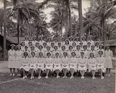 A group of Navy Nurses, probably somewhere in the Pacific ~