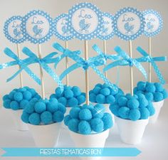 Your SEO optimized title Baby Shower Crafts, Baby Boy Shower, Ideas Bautizo, Baby Shawer, Ideas Para Fiestas, Candy Shop, Marshmallow, Cake Pops, Party