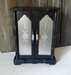 Jewelry Box black vintage chic gothic ecofriendly upcycled RTS - pinned by pin4etsy.com