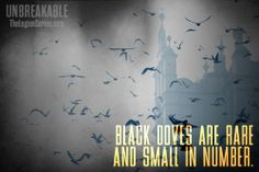 Black Doves are rare and small in number. #unbreakable #thelegionseries #kamigarcia #YAbooks #supernatural #paranormal #quotes *