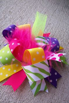 Hair BowFunky Fun Over the Top BowEye by bowdaciousbows417 on Etsy, $7.99