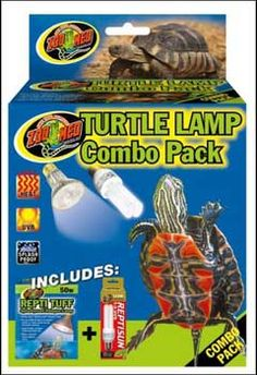 Turtle Lamp Combo Pack 50 Watt, Zoo Med -  Turtle Lamp Combo Pack. Turtle Tuff Halogen Lamp 50 Wat a heavy duty splash-proof halogen lamp. For use with all types of aquatic Turtles and other aquatic terrarium pets. Long Lasting, ReptiSun 5.0 Mini Compact Fluorescent: Perfect for all tropical species of reptiles and amphibians! 5% UVB Output, 30% UVA Output, FULL SPECTRUM. The new ReptiSun
