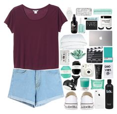 """""""you're my sun, my moon, and all my stars"""" by heyy-its-tisharaa ❤ liked on Polyvore featuring Monki, Converse, Zuny, CASSETTE, NARS Cosmetics, Ole Henriksen, Seletti, Pantone, HomArt and Pelle"""