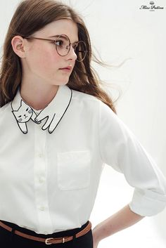 Love Cat Shirt (White) - Miss Patina - Vintage Inspired Fashion - Pepino Ladies Fashionista Estilo Fashion, Moda Fashion, Womens Fashion, Latest Fashion, Fashion Trends, Looks Style, Style Me, Mode D'inspiration Vintage, Vintage Style