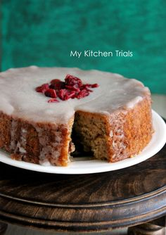 Banana Honey Low Fat Cake from My Kitchen Trials