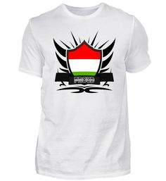 Ungarn-Hungary Proud Wappen Flagge 011 T-Shirt Mens Tops, Fashion, Flag, Hungary, Crests, Cotton, Moda, Fashion Styles, Fashion Illustrations
