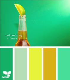 Resultado de imagen para gama de colores verdes