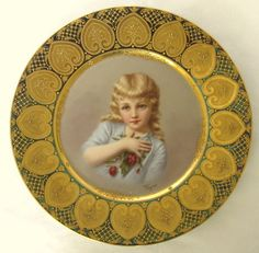 Royal Vienna 19th Century Hand Painted Porcelain Plate