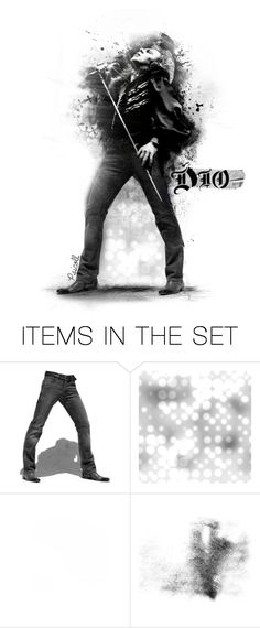 """""""148 - Ronnie James Dio"""" by psicoll ❤ liked on Polyvore featuring art, doll, dolls, paperdoll, men and psicoll"""